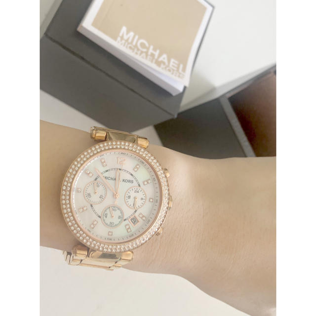 Michael Kors - Michael korsマイケルコースゴールドチェーン腕時計ゴージャスレディースの通販 by Stella's Dress👗|マイケルコースならラクマ