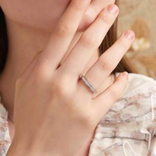 ダイヤモンドキュービックリング指輪ホワイトゴールド上品おしゃれ11号(リング(指輪))