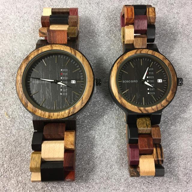 新品未使用 BOBOBIRD 週&日付表示クォーツ木製腕時計 ペアウォッチセットの通販 by hy3112's shop|ラクマ