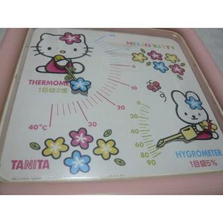 ハローキティ(ハローキティ)のタニタ製 キティ ちゃん 温度計 湿度計(日用品/生活雑貨)