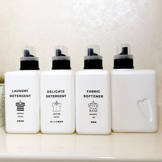 BB-142 ✩︎ラベル付ブック型洗剤ボトル 1000ml  4本✩︎(黒)(容器)
