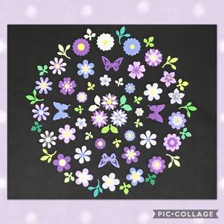 *クラフトパンチ お花の詰め合わせ* 紫(カード/レター/ラッピング)