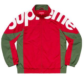シュプリーム(Supreme)のSupreme shoulder track jacket red M(ナイロンジャケット)