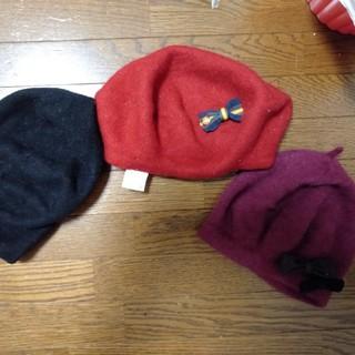 セシルマクビー(CECIL McBEE)のベレー帽 3つセット リボン 秋🎀(ハンチング/ベレー帽)