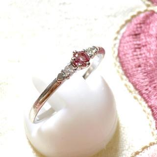 へなちょこ様専用❣️k18 ダイヤ ピンクトルマリン リング(リング(指輪))