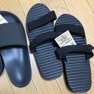 ムジルシリョウヒン(MUJI (無印良品))の無印良品【26.5〜27cm】甲高でも履きやすい‼️ポイント消化‼︎ベランダにも(サンダル)