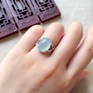 557 k18金 翡翠 ピンクゴールドリング 翡翠リング 豪華指輪 結婚記念日(リング(指輪))