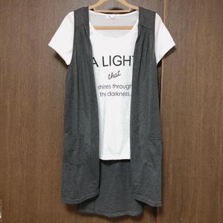 マックハウス(Mac-House)の再値下げ!マックハウス ジレ付きTシャツ Lサイズ(Tシャツ(半袖/袖なし))