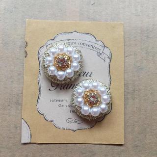 swan様♡パール&刺繍のイヤリング(ピアス)