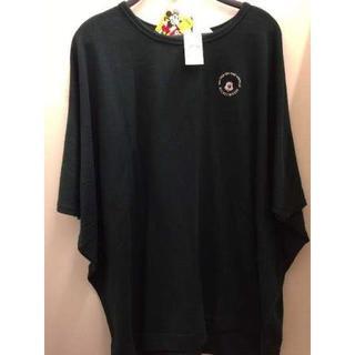 ディズニー(Disney)の新品 ミッキー 刺繍 ドルマン ロング丈 Tシャツ ゆったり(チュニック)