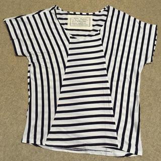 ミスティウーマン(mysty woman)のTシャツ ボーダーストライプミックス デイアンドデイ(Tシャツ(半袖/袖なし))