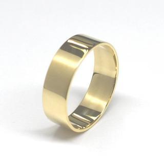 K18 平打ちリング 幅約6.0mm (リング(指輪))