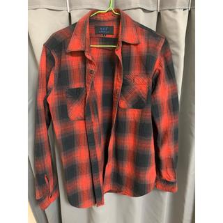 アートヴィンテージ(ART VINTAGE)の赤黒チェック 長袖 vintage(Tシャツ/カットソー(七分/長袖))