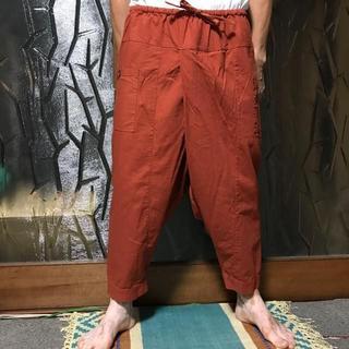 マライカ(MALAIKA)の男女兼用 ユニセックス 【新品】マライカ 簡易ヒルトライブパンツ オレンジ(サルエルパンツ)
