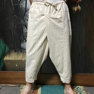 マライカ(MALAIKA)の男女兼用 ユニセックス 【新品】マライカ 簡易ヒルトライブパンツ ナチュラル(サルエルパンツ)