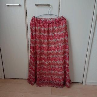 ジエンポリアム(THE EMPORIUM)の花柄 ロングスカート(ロングスカート)