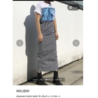 ホリデイ(holiday)の【holiday】ギンガムチェックスカート(ロングスカート)