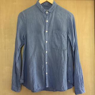ドミンゴ(D.M.G.)のBrocante リネン シャツ ブルー(シャツ/ブラウス(長袖/七分))