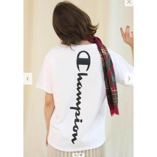フレイアイディー(FRAY I.D)の【FRAY I.D×Champion】バックロゴTシャツ(Tシャツ(半袖/袖なし))
