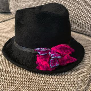 ミサハラダ(misaharada)のミサハラダ misaharada ハット 帽子 秋冬 定価6万以上(ハット)