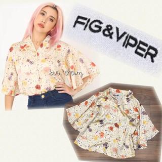 フィグアンドヴァイパー(FIG&VIPER)のFIG&VIPER♡花柄ブラウス(シャツ/ブラウス(半袖/袖なし))