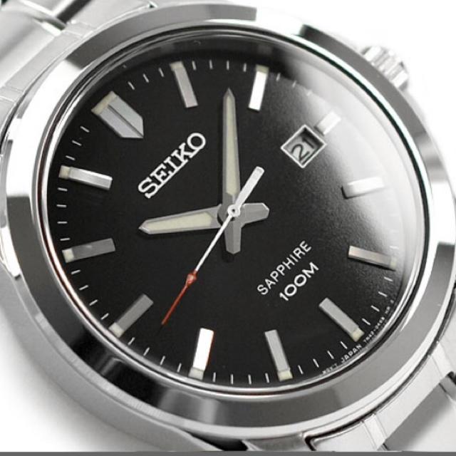 SEIKO - 【逆輸入 SEIKO 】セイコー メンズ 腕時計ブラックダイアルステンレスベルトの通販 by サム's shop|セイコーならラクマ