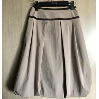 フォクシー(FOXEY)のフォクシー バルーンスカート カーキ 美品(ひざ丈スカート)