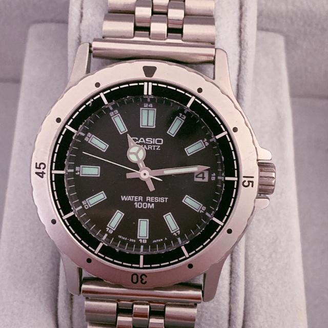 CASIO - CASIO クオーツ腕時計 100Mの通販 by 888プロフ必読|カシオならラクマ