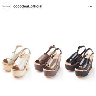 ココディール(COCO DEAL)の【まりこ様専用】COCO DEALクロスストラップサンダル(サンダル)