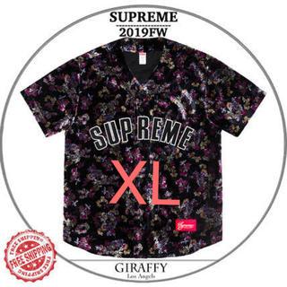 シュプリーム(Supreme)のSupreme Floral Velour Baseball Jersey XL(シャツ)