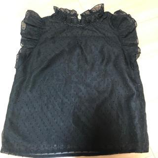 エブリン(evelyn)の黒 ブラウス(シャツ/ブラウス(半袖/袖なし))