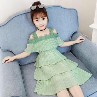 KWBS021可愛い子供、キッズワンピース(3色110-160)   (ワンピース)