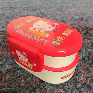 ハローキティ - レトロ キティちゃん 二段 お弁当箱