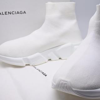 バレンシアガ(Balenciaga)のバレンシアガ:スピードトレーナー スニーカー(37) ホワイト スニーカー(スニーカー)