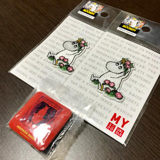 ユニクロ(UNIQLO)のムーミン 刺繍ワッペン 缶バッチ(バッジ/ピンバッジ)