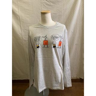 ピーナッツ(PEANUTS)の新品タグ付き スヌーピー ロンT メンズ L(Tシャツ/カットソー(七分/長袖))