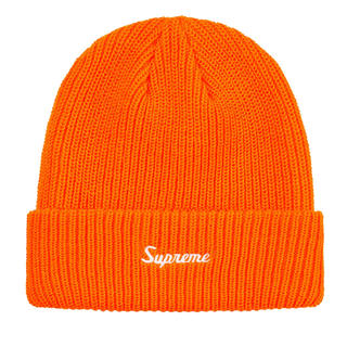 シュプリーム(Supreme)のSupreme Loose gauge beanie orange ビーニー(ニット帽/ビーニー)