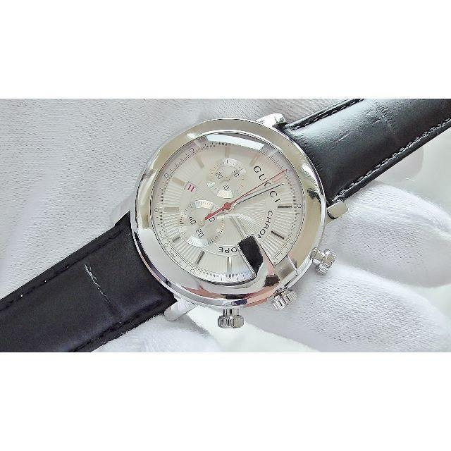 Gucci - GUCCI グッチ 101M クロノ 男性用 クオーツ腕時計 B2213メの通販 by hana|グッチならラクマ