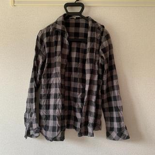 チェックシャツ モノクロ(シャツ/ブラウス(長袖/七分))