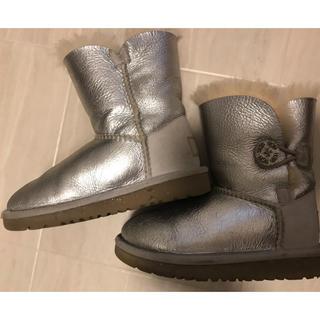 アグ(UGG)のUGGムートンブーツシルバー16センチ(ブーツ)