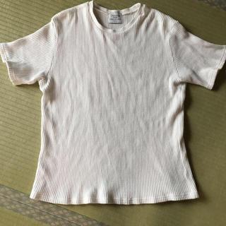 ディスコート(Discoat)のディスコート 爽やか 白 ワッフル Tシャツ  Lサイズ(Tシャツ/カットソー(半袖/袖なし))
