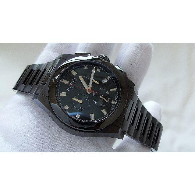 Gucci - GUCCI グッチ 115.2 クロノ 男性用 クオーツ腕時計  B2217の通販 by hana|グッチならラクマ