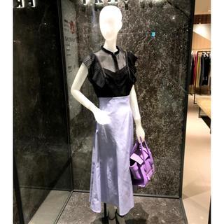 フレイアイディー(FRAY I.D)の美品 フィットフレアスカート(ロングスカート)