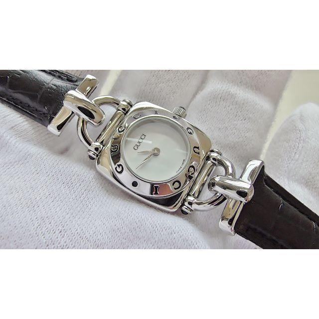 Gucci - GUCCI グッチ 6300L 女性用 クオーツ腕時計 電池新品 B2222メの通販 by hana|グッチならラクマ