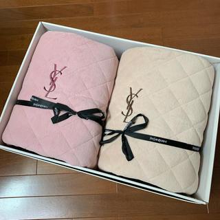 サンローラン(Saint Laurent)のイヴ・サンローラン ロゴ刺繍 ボアシーツ 2枚セット(その他)