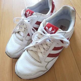 アディダス(adidas)のadidas/アディダス レディース スニーカー◆ホワイト/レッド◆24.0cm(スニーカー)