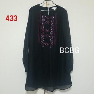 ビーシービージーマックスアズリア(BCBGMAXAZRIA)の433♡BCBG シフォンワンピース(ひざ丈ワンピース)