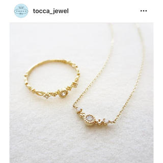 トッカ(TOCCA)のTocca K10YG ダイヤモンドネックレス(ネックレス)