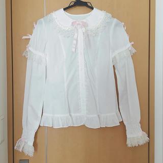 アンジェリックプリティー(Angelic Pretty)のAngelic Pretty ブラウス 袖取り外し可 長袖/半袖 (シャツ/ブラウス(半袖/袖なし))