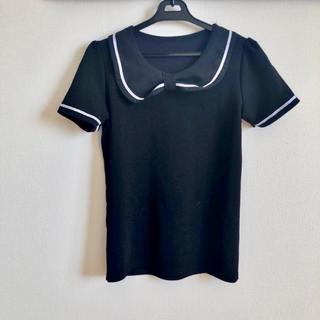 ディーホリック(dholic)の黒 カットソー ブラック(カットソー(半袖/袖なし))